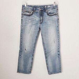 Miss Me Boyfriend Cropped Light Distressed Jeans